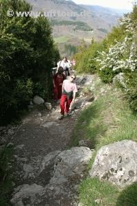 Aufstieg nach Mont Segur