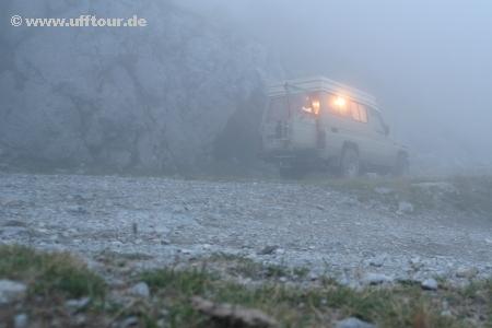 Ligurische Grenzkammstraße - Nebel