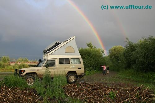Wo Regen ist, ist manchmal auch ein Regenbogen - oder zwei...