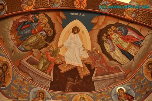 Kloster Edenul - neugemalte Fresken