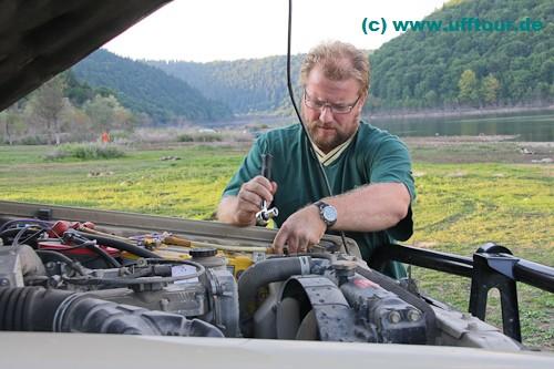 Arbeit am Toyo - Sch...-Elektronik