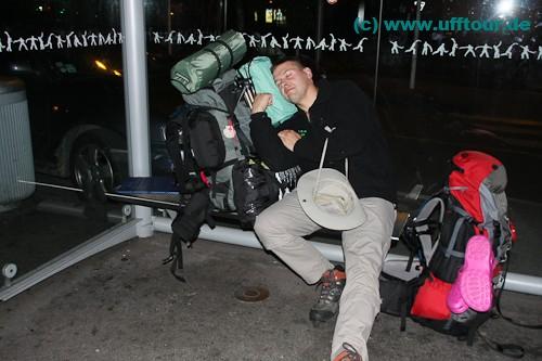 Übernachtung in der Bushaltestelle