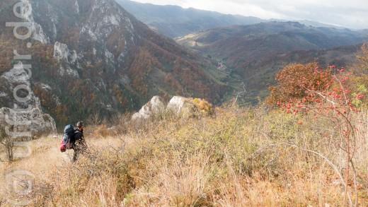 Nun liegt noch ein Abstieg vor uns, von Modolesti aus ging es dann per Autostop und Bus weiter.