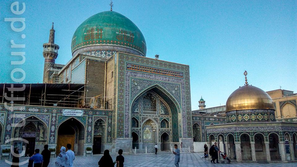 Das Grabmal des Imam Reza (Rückseite)