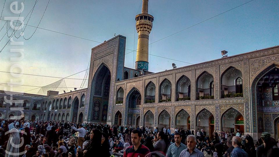 Ein Innenhof im für Nicht-Muslime nicht zugänglichen innersten Bereich des Heiligtums.