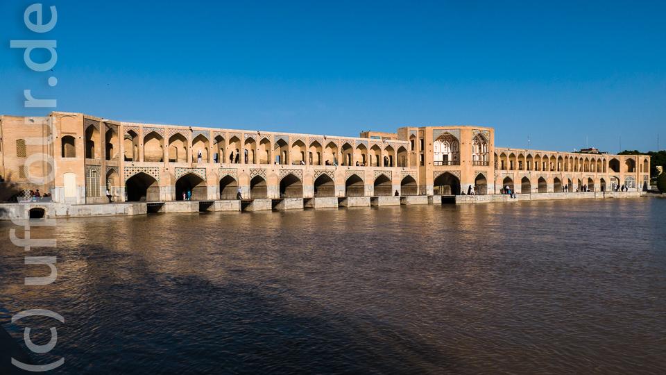 Die Khaju-Brücke, eine der Brücken in Isfahan