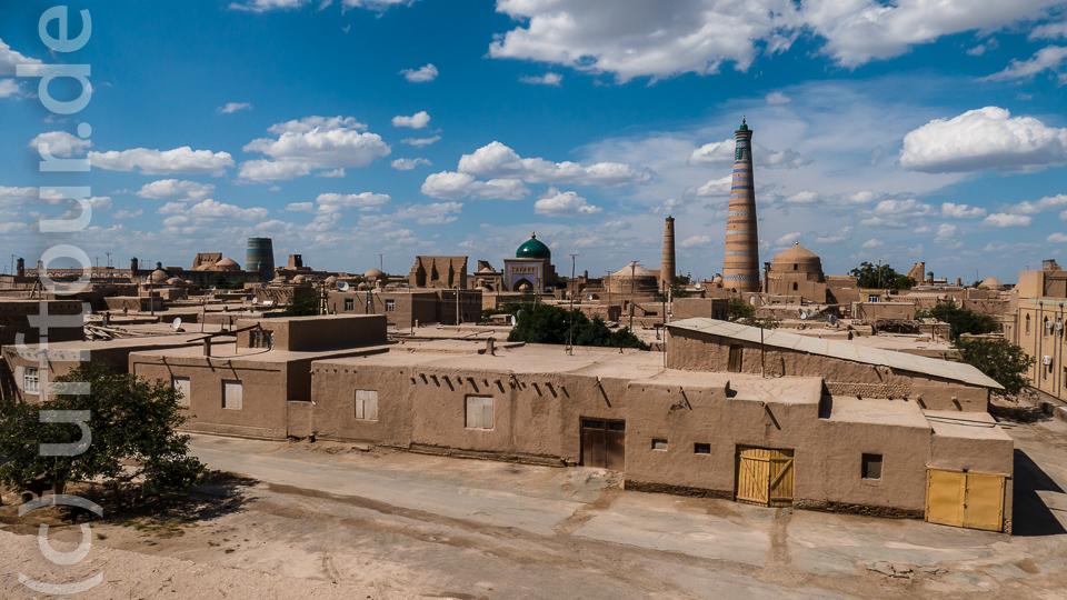 Überblick über die Stadt von der südlichen Stadtmauer aus.