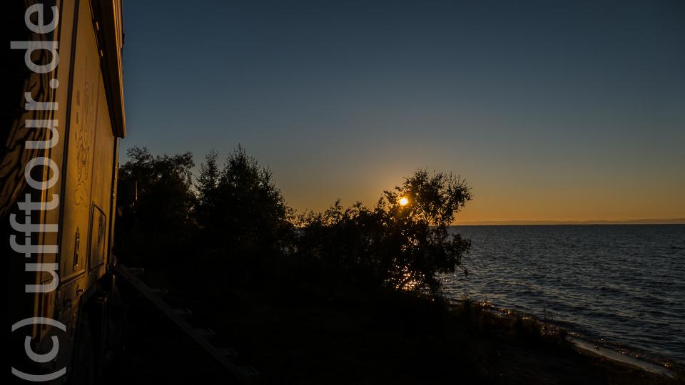 Dermaßen kulinarisch verwöhnt konnten wir den Sonnenuntergang...