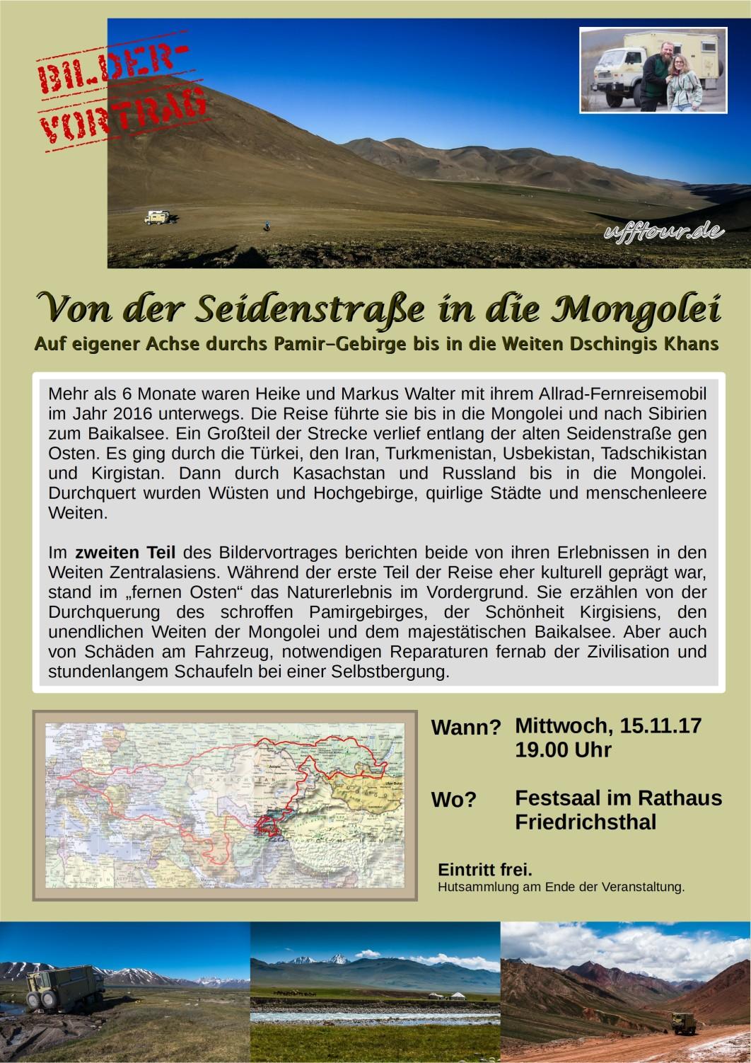 Bildervortrag - Von der Seidenstraße in die Mongolei